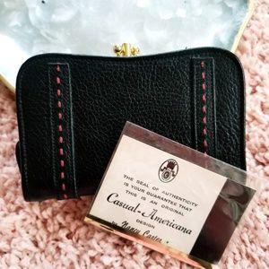 Vintage Nancy Carter Snap Closure Leather Wallet